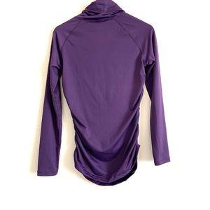 NEW Women/'s Alpine Design Purple 1//4 Zip Long Sleeve Top S1-3
